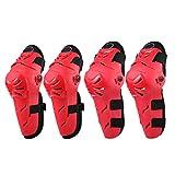 Yangge Yujum 4PCS Motorrad Motocross Radfahren Knie Ellenbogen Schoner Schienbeinschützer Body Armor Set für Erwachsene