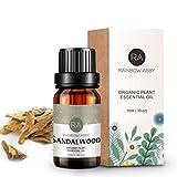 Sandelholzöl - 100% Reines Aromatherapie Öl für Diffusor, Parfüm, Massage, Hautpflege, Seifen, Kerzen - 10ml