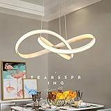 Pendelleuchte/Hängelampe LED Esstischlampe Küchenlampe Deckenlampe Dimmbar Fernbedienung Kronleuchter, Moderne Design Metall Acryl Esszimmerlampe Flur Wohnzimmer Lampe Höhenverstellbar Hängeleuchte