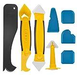 Silikonentferner, Silikon Fugenwerkzeug Set mit Dichtung Werkzeug/Dichtmittelelentferner/Caulk Düse, Silikon Fugenglätter Schaber Entferner Werkzeug für Küche Bad Boden Fliesen