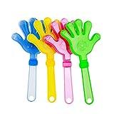 Tomaibaby 5 Stücke Hand Clappers Kunststoff Krachmacher Rauschunterdrücker Led Leuchten Spielzeug für Fiesta Party Geburtstag Gefälligkeiten Spiel Zubehör (Zufällige Farbe)