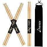 Donner 5A Drumsticks Natur Klassisches Ahorn Holz 3 Paar mit Tasche