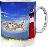 metALUm Kaffeetasse Leuchtturm Christlich # 3300100163