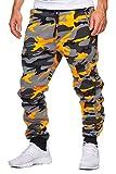 OneRedox Herren Jogging Hose Jogger Streetwear Sporthose Modell 794 Orange L