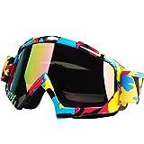 Calistouk Geländemotorrad Schutzbrille Winddich Motorrad Brille Augenschutz QL061 color