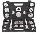 Bremskolbenrücksteller Satz 22-teilig KFZ Werkzeug Bremsen Wechsel Bremskolben Rücksteller Set mit 3-PIN Adapter passend zu VAG VW BMW Mercedes PSA Peugeot Ford Opel