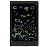 Sunany LCD Writing Tablet,8.5 Zoll Bunte LCD-Schreibtafel,Papierlos Geschenke für Kinder und Erwachsene,Kinder Schreibtafel mit Anti-Clearance Funktion (Schwarz)