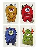 MIK Funshopping Handwärmer Taschenwärmer Sets (4er-Set Einäugige Monster)