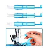 MUCHEN-SHOP Einfädelhilfe für Nähmaschinen,3er Pack Automatischer Nähnadel Inserter Kunststoff Nadeleinfädler Werkzeug für Nähmaschine Blau 7.5CM