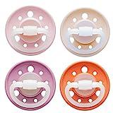 nip Schnuller Cherry kirschförmig: BPA-Frei, Größe 2, ab 6 Monate, Latex Rosa/Pink/Rot/Orange Erdig, 4 Stück