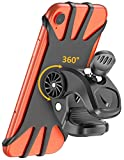 Cocoda Handyhalterung Fahrrad, 360° Drehbarer Handyhalter Motorrad, Universal Silikon Fahrrad Lenkerhalterung Kompatibel mit iPhone 12 Pro/iPhone 12 Mini/iPhone 11 Pro Max, Samsung S20/S10 Plus