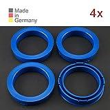 KONIKON 4X Zentrierringe 73,10 x 57,10 mm Blau Felgen Ringe Radnaben Zentrierring Adapterring Ring Felgenring Distanzring Made in Germany