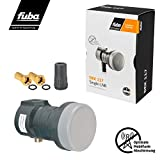 Fuba Single LNB LNC 1 Teilnehmer Direkt DEK 117 ■ LTE- & Mobilfunkabschirmung ■ Wetterschutz (Gummitülle) ■ 1080p Full HD 4K UHD ■ 2 Vergoldete F-Stecker von HB-DIGITAL