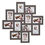 Deknudt Frames S65SV9 Bilderrahmen 10x15 Galerierahmen, Taupe, 12x (10x15) Holz Fotokader