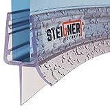 STEIGNER Duschdichtung, 80cm, Glasstärke 3,5/4/ 5 mm, Vorgebogene PVC Ersatzdichtung für Runddusche, UK13