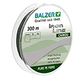 Balzer Iron Line 4-fach geflochtene Angelschnur - verschiedene Farben - Diverse Schnurstärken (Grün, 0,10 mm)