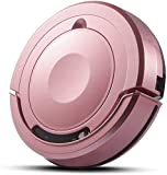 8bayfa WI-Roboter-Staubsauger 1300Pa Saugstark Super-Thin Quiet Roboter Kehrmaschine mit Anti-Drop und Kollisionssensor for Holzboden Teppichfliesen Pet Hair Care (Color : Rose Gold)