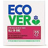 Ecover All-In-One Spülmaschinen-Tabs Zitrone & Mandarine (22 Stück/440 g), Multi-Tabs für eine kraftvolle Reinigung, Ecover Spülmaschinentabs mit Klarspüler und Geschirrspülsalz
