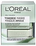 L´ORÉAL PARIS Tonerde Maske 50ml, klärend, mattierend, 3 Reine Tonerden + Eukalyptus, entfernt Unreinheiten und verfeinert die Poren, Grüne Klärende Maske