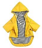 Morezi Hunde-Regenmantel mit reflektierenden Knöpfen, Reißverschluss, regen-, wasserabweisend, verstellbarer Kordelzug, abnehmbare Kapuze, Größe XS bis XXL, 0609