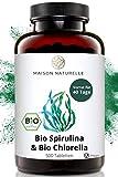 MAISON NATURELLE® Bio Spirulina & Chlorella Mix Presslinge (500 Stück) - Hochdosiert mit 3.000mg Bio Spirulina Alge & 3000mg Bio Chlorella Alge je Tagesdosis – chlorella spirulina bio