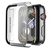 Misxi Transparent Hard Apple Watch Series 6 / SE/Serie 5 / Series 4 Hülle Mit Panzerglas Displayschutz 40mm, Rundum Schutzhülle Ultradünne Klar Schutz Case für iWatch - Clear