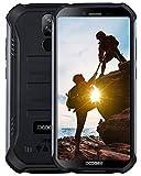 DOOGEE S40 4G Outdoor Smartphone ohne Vertrag, Android 9,0 Handy ohne Vertrag Dual SIM 3GB+32GB, IP68 Wasserdicht 5,5 inch 4650mAh Quadcore, 8MP+5MP Dual Kamera, NFC Fingerabdruck Gesicht ID, Schwarz