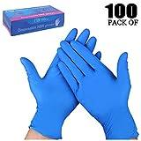 TopBine Einmalhandschuhe 200 Stück Box (L, Nitril blau)丨Nitrilhandschuhe 丨Medizinische Untersuchungshandschuhe丨Puderfrei丨Unsteril丨Latexfrei丨Disposible Gloves