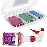 AmbiClean® Lackreiniger-Set zur professionellen Lackreinigung, Optimale Auto-Pflege und -Reinigung - 3x100g Knete + 500ml Spezial Gleitmittel