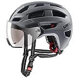 uvex Unisex– Erwachsene, finale visor Fahrradhelm, strato steel, 52-57 cm