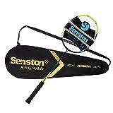Senston S330 100% Graphit Badminton Set Carbon Badmintonschläger Graphit Badminton Schläger mit Schlägertasche