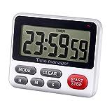 Aimilar Digitaler Küchen-Countdown-Timer mit Alarm, magnetisch, Weiß