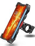 Bovon Handyhalterung Fahrrad Anti-Shake 360° Rotation Universal Fahrradhalterung Motorrad Fahrrad Lenker Komptibel mit iPhone 11 Pro Max/Xs Max/Xr/X/8 Plus, Samsung Galaxy S10 Plus usw.