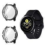 TiMOVO Smart Watch Protektoren Kompatibel mit Galaxy Watch Active 2 (40mm), TPU Eingelegten Diamanten Rahmen Abdeckung Smartwatch Zubehör Kompatibel mit Galaxy Watch Active 2 (40mm) - Schwarz