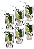 Filosa Aktion: 6X 370ml XXL doppelwandige Gläser/Thermogläser/Cocktailgläser/Longdrinkgläser/Eistee-Gläser/Saft- und Wassergläser -… …
