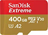 SanDisk Extreme microSDXC 400GB + SD Adapter + Rescue Pro Deluxe 160MB/s A2 C10 V30 UHS-I U3