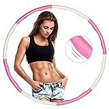 ZOYJITU Fitness Hula Hoop zur Gewichtsreduktio, Hula Hoop Reifen Erwachsene & Kinder, Reifen mit Schaumstoff von 0,75 bis 1,0kg einstellbar, Hula-Hoop-Reifen für Fitness
