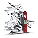 Victorinox Taschenmesser Swiss Champ XAVT (83 Funktionen, Digitalanzeige, Bit-Schlüssel) rot transparent