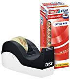 tesa Easy Cut Orca Tischabroller (rutschfest, einfache Handhabung, sauberer Schnitt mit 8 Rollen tesafilm transparent 33m x 19mm)