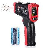 Infrarot Thermometer, Digital IR Thermometer -50°C ~ 680°C (-58~1256 ° F) kontaktfreies mit Farbe lcd 12-Punkte-Laserkreis Farbbildschirm, Alarmfunktion bei Über/Unterschreitung der Temperatur