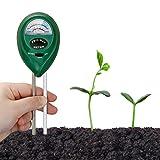 Orlegol Bodentester, Boden Feuchtigkeit Meter, 2-in-1 Pflanze Tester, Bodenmessgerät Feuchtigkeitsmesser und Boden pH Tester für Pflanzenerde, Garten, Bauernhof, Rasen, kein Batterien erforderlich
