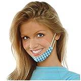 Amphia Gesichtsschutz Visier aus Kunststoff - Augenschutz Spuck-Schutz - Premium Gesichtsschild - Face-Shield - Baumwolltuch zur Vermeidung von Gesichtsverletzungen