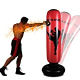 Aufblasbarer Boxsack Boxsack, Kinderspielzeug Freistehender Boxsack Boxsack für Training Stressabbau Training. (Red 170CM)