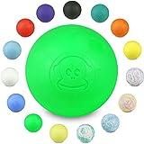 Captain LAX Massageball Original - Lacrosseball, Hartgummi, mit den Maßen 6 x 6 cm geeignet für Triggerpunkt- & Faszienmassage/Crossfit