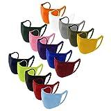 15 Stück Erwachsene Stoffmasken Mundschutz, Einfarbig, Staubschutz Atmungsaktive Mundbedeckung, Waschbar Face Bandana Wiederverwendbar Mund und Nasenschutz Halstuch