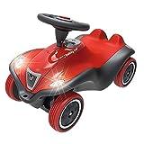 BIG-Bobby-Car Next - Deluxe Variante, Kinderfahrzeug mit LED-Front Scheinwerfer, Flüsterreifen und weichem Sitz, belastbar bis zu 50 kg, Rutschfahrzeug für Kinder ab 1 Jahr, rot