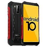 Ulefone Armor X5 Outdoor Handy - Android 10.0 Rugged Smartphone IP68/IP69K Wasserdicht Stoßfest Staubdicht Mobiltelefon Dual SIM 4G 3GB RAM 32GB ROM 5,5-Zoll-Display 5000mAh Akku (Rot)