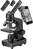 National Geographic 40-1280x Mikroskop mit Auflicht/Durchlichtbeleuchtung, Smartphone Halterung und umfangreichem Zubehör zum Einstieg in die Mikroskopie, schwarz