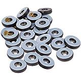 Filzada® 26x Teflongleiter zum Schrauben - Ø 25 mm (rund) - Möbelgleiter/Teppichgleiter PTFE (Teflon) inkl. Schrauben