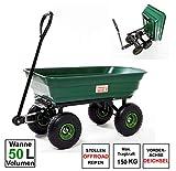 Izzy Bollerwagen kippbar Gartenwagen Handwagen Gartenkarre Transportwagen Handkarren Luftreifen (Gartenwagen kippbar 50L Wanne)